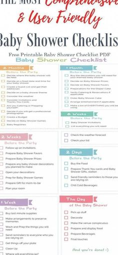 Baby Shower Planner, Baby Shower Checklist, Baby Shower Favors, Baby Shower Parties, Baby Shower Gifts, Baby Shower Photo Booth, Baby Shower Photos, Free Baby Shower Printables, Printable Party