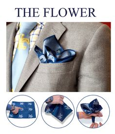 #HOW TO FOLD A POCKET SQUARE#THE FLOWER FOLD#