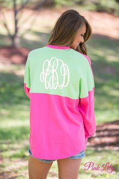 Monogram everything, regr... Hello Spring 2016 Hello Summer '16   Click to Add More Boards! Monogrammed Jerseys. These are GREAT for any time of the year. REPIN if you LOVE it!