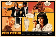 Pulp Fiction - Tallenge Quentin Tarantino Hollywood Movie Art Poster Collection by Joel Jerry Quentin Tarantino, Buy Posters, Film Posters, Burlesque, Comic Art, Comic Books, Pulp Fiction Book, Cinema, The Best Films