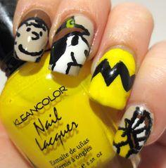 Thanksgiving Nail Art Challenge - Charlie Brown