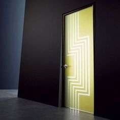 Modern interior doors add style and beauty to room design and decorating. Simple and creative door decorating ideas, like paint, wallpaper, ornaments or crafts decorations make interior doors look uni Interior Door Colors, Painted Interior Doors, Door Design Interior, Interior Design Photos, Painted Doors, Interior Design Inspiration, Bedroom Door Design, Garage Door Design, Contemporary Internal Doors