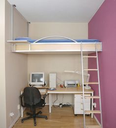 Loft Beds For Adults   Adult Loft Bed : Loft Bed Space Saving. Small Bedroom  ...