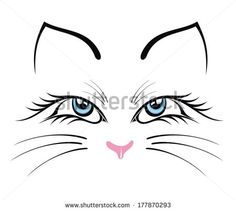 Cat face drawing Free vector for free download about (23) Free ...