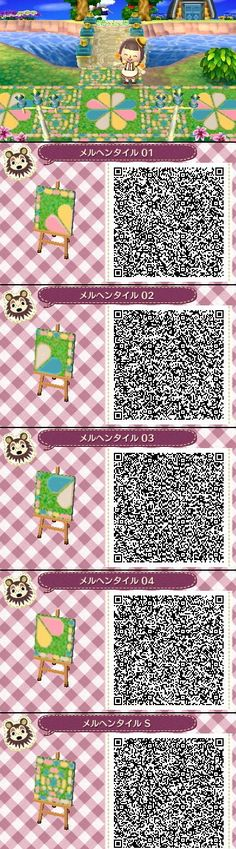 Animal Crossing New Leaf QR codes cute tile