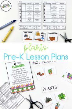 Science in preschool is fun! Teach children all about plants in this fun spring time thematic unit. Lesson plans and printable activities included. Perfect for preschool and pre-k! Preschool Writing, Preschool Learning Activities, Writing Activities, Teaching Kids, Kids Learning, Pre K Lesson Plans, Preschool Lesson Plans, Plant Lessons, Plant Science