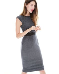 Cap-sleeve dress in mini-dot
