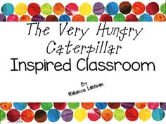 The Very Hungry Caterpillar Classroom Decor set includes everything you need to get your class started up!This set includes:-Classroom Job Labels-Basket Labels-Classroom Labels - creating a print-rich environment-Student Name Tags-Welcome Banner-Letters for Making Your Own Banner-Schedule Cards-Classroom Library Labels-Book Box Labels-Letters -Numbers-Homework Folder CoverDaily Focus Wall:-Alphabet Cards-Number Cards-Shape Cards-Color Cards-Sight Word Cards-American Symbol Cards-Coin…