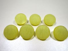 Yellow Textured Buttons Set of 7 Molded by BonniesVintageAttic
