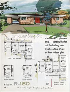 1364 sq ft. 3 bed, 2 bath. Workable with a few changes to open it up.