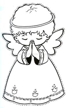 Christmas coloring pages for kids Angel Coloring Pages, Colouring Pages, Adult Coloring Pages, Coloring Books, Coloring Sheets, Christmas Angels, Christmas Art, Christmas Ornaments, Angel Crafts