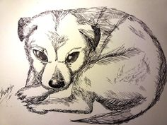 Puppy Drawing in INK - Check out the video tutorial to learn how to draw a puppy in ink!