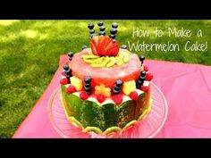How to Make a Watermelon Cake - YouTube