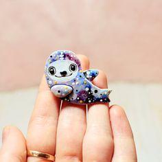 Jewelry Art Brooch Animal Sea Jewelry Art Animal от LullabyForFox