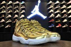 b8beb2bcc82e Authentic Air Jordan 11 Pinnacle Metallic Gold White Kawhi Leonard  Basketball Shoes For Sale - ishoesdesign