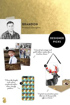3 must-have photo cards and gifts picked by designer Brandon. #christmasCards