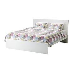 IKEA - MALM, Estructura de cama alta, Luröy, 140x200 cm, , Al tener los laterales de la cama regulables, se pueden utilizar colchones de diversos grosores.Las 17 tablillas de láminas encoladas de abedul dan más flexibilidad al colchón y proporcionan soporte al cuerpo.