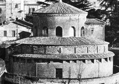 exterior of Santa Costanza - 4th century AD - Rome built under Emperor Constantine I - the 'drum' or 'rotonda' is pierced with windows