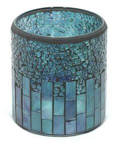 Another great find on #zulily! Blue Mosaic Candleholder #zulilyfinds