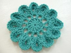 Japanese Flower Motif--FREE pattern!! I love this color! I can do this! ¯\_(ツ)_/¯