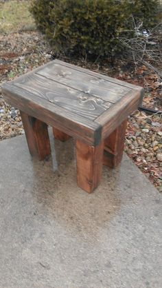 Beautiful Primitive SMALL Dark Walnut Stained by UniquePrimtiques, $59.95