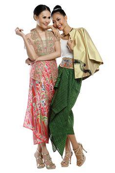 bright colors Blouse Batik, Batik Dress, Dress Batik Kombinasi, Modern Kebaya, Batik Kebaya, Dress Pesta, Ethnic Fashion, Fashion Outfits, Womens Fashion