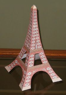 eiffel tower model template - 3d models on pinterest paper toys paper models and