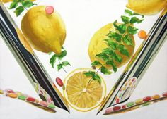 Composition Painting, Composition Design, Layout Design, Design Art, Japan Design, Ap Art, Illustrations Posters, Student, Fruit