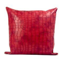 样板房/家居/红色皮革抱枕/简约风格w2015022