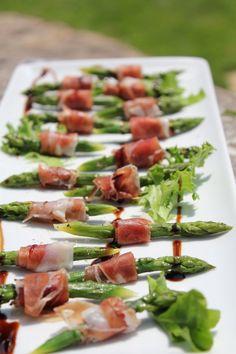 Parma ham, asparagus and balsamic reduction