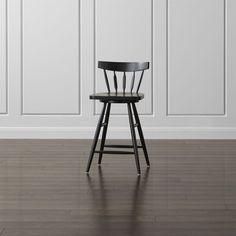 Willa Swivel Black Counter Stool | Crate and Barrel