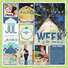 #papercrafting #scrapbook #layout Week 29 - Scrapbook.com
