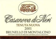 Brunello di Montalcino - Casanova di Neri #vino #wine #naming #packaging
