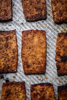 This vegan Tofu Bacon is smoky, crispy, chewy, insanely delicious and a great alternative to the real thing! Give this a try and use in your favorite breakfast recipes, BLTs, salads and more. #tofubacon #veganbacon #tofu #veganrecipes #veganbrunch #tofurecipes #veganbreakfast #veganfood #veganbasics | crowdedkitchen.com Vegan Brunch Recipes, Tofu Recipes, Bacon Recipes, My Favorite Food, Favorite Recipes, Homemade Tofu, Breakfast Hash, Low Sodium Soy Sauce, Bacon Bits