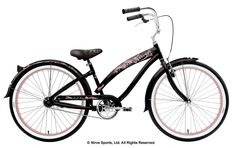 Nirve Island flower in black around $430 Nirve.com - Women's Stylish Beach Cruiser Bikes and Components