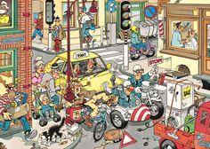 Jan van Haasteren ve puzzle'lara yerleştirdiği gizli işaretler! Hidden Pictures, Funny Pictures, Cartoon Styles, Cartoon Art, Picture Writing Prompts, Puzzle Art, Picture Puzzles, Comic Drawing, Space Crafts