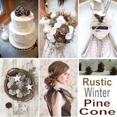 rustic-winter-pine-cone.jpg (601×600)