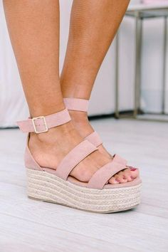 f52ac8352656 The Adalyn Wedges Pink. Espadrille SandalsStrappy ...