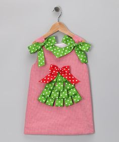 Take a look at this Red Ribbon Tree Jumper - Infant, Toddler & Girls by Secret Wishes on #zulily today!