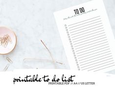 Get stuff done faster and better with this fun printable to do list for your planner. Getting everything you have to do down on paper is the first step in having a more organized life. #printableplanner #planit #printable Printable Calendar 2020, Printable Planner Pages, Printables, List Template, Templates, Health Planner, Planner Inserts, Life Organization, Getting Things Done