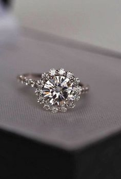 Top Round Engagement Rings  See more:   #weddings #weddingring