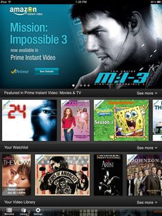 Amazon Instant Video Service App Lands on iPad
