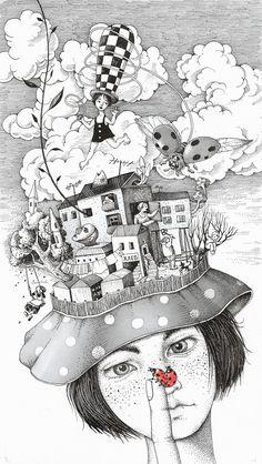 Bellas y poéticas ilustraciones de Sveta Dorosheva que rinden homenaje a su infancia 1