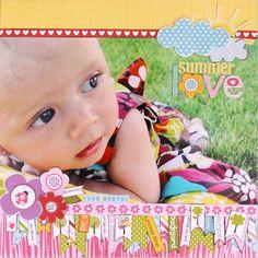 Summer Love by Stephanie Hunt featuring Bella Blvd Sophisticates - Scrapbook.com