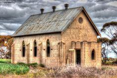 """""""Abandoned, yet always open"""" Tullyvea Church, Tullyvea, Victoria."""