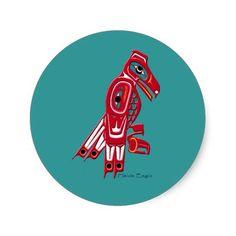 Haida Art Bald Eagle Art stickers