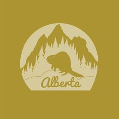 Art print of Canadian Province of Alberta, highlighting one of Alberta's provincial animals. Music Do, Canadian Art, The Province, Freelance Illustrator, Pigment Ink, All Print, At Least, Flag, Canada