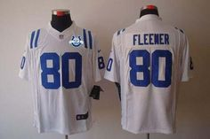 """$23.88 at """"MaryJersey""""(maryjerseyelway@gmail.com) Nike Colts #80 Coby Fleener White With 30TH Seasons Patch Men's Embroidered NFL Limited Jersey"""