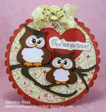owls circle card - bjl