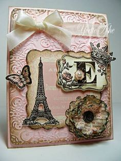 "This ♥ly shabby chic card features the Stampin' Up! stamp set ""Artistic Etchings"" - gorgeous!"